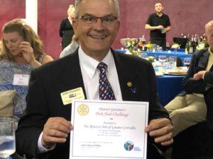 Rotary Club of Greater Corvallis wins the Pink Hair Challenge Award