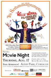 Want to change the world?  Come to Movie Night August 17